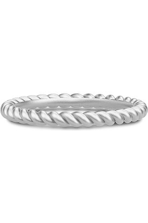 Julie Sandlau Twisted Ring 52 - Rhodium Ring Smykker