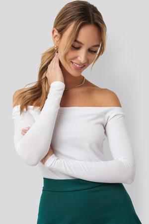 NA-KD Kvinder Toppe - Long Sleeve Bardot Top