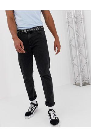Weekday Sorte afslappede sunday tapered fit-jeans fra