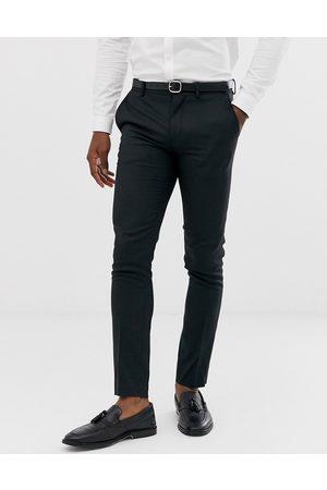 Jack & Jones Sorte habitbukser i strækbart stof med super smal pasform fra Premium
