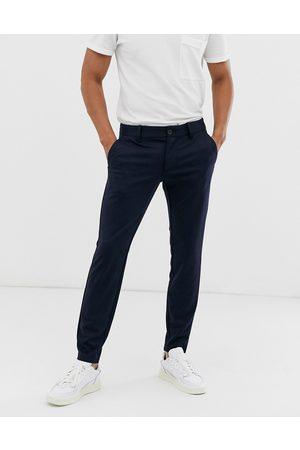 Only & Sons Tapered marineblå bukser fra