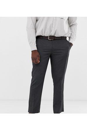ASOS Koksgrå smarte bukser med smal pasform fra Plus