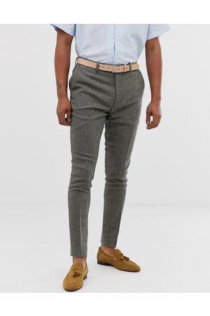 ASOS Smarte superskinny bukser i gråt hundetandsmønster fra