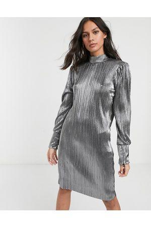 Levete Room Metalfarvet minikjole-Sølv