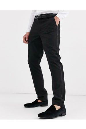 ASOS Sorte habitbukser i smoking-stil med smal pasform fra