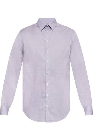 Giorgio Armani Mænd Langærmede - Embroidered shirt