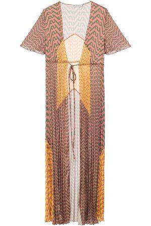 Self-Portrait Pleated slip dress
