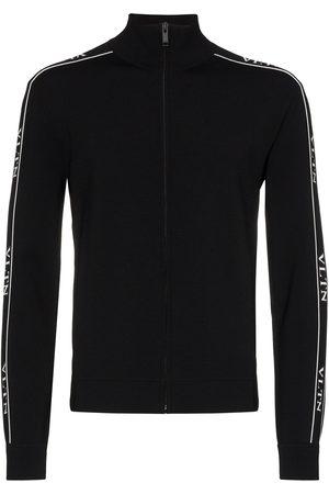 VALENTINO Ticker sweatshirt med lynlås og logobånd