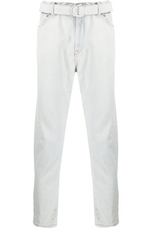 OFF-WHITE Belted straight jeans