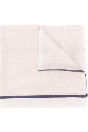 Brunello Cucinelli Tørklæde med stribe i kontrastfarve