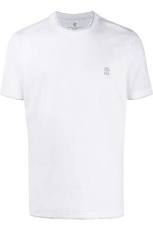 Brunello Cucinelli T-shirt med dobbelt kant