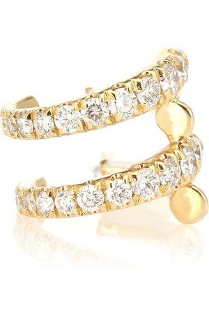 Melissa Kaye Lola 18kt ear cuff with diamonds