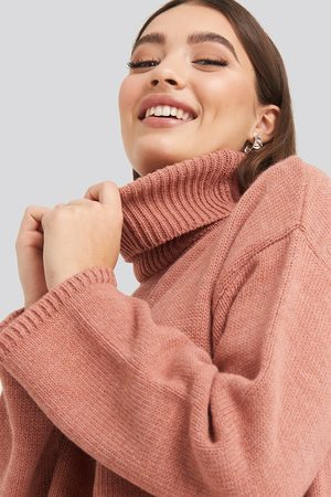 NA-KD Wide Sleeve Oversized Roll Neck Sweater