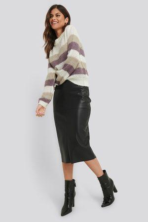 NA-KD Midi PU Skirt