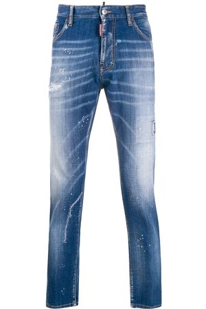 Dsquared2 Ink splashes straight jeans