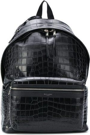 Saint Laurent City rygsæk med krokodilleeffekt
