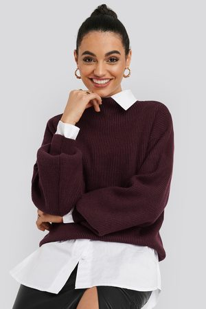 NA-KD High Neck Big Sleeve Knitted Sweater