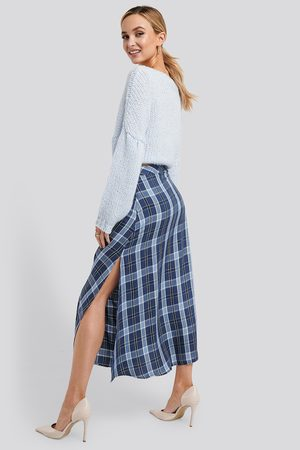NA-KD High Waist Side Split Midi Skirt
