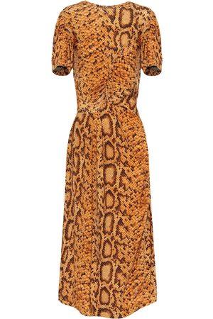 THORNTON BREGAZZI Daliz snake-print dress