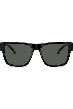 VERSACE Firkantede solbriller med tonet glas Sort