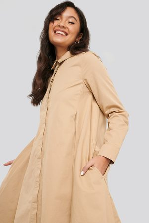 NA-KD Asymmetrical Shirt Dress