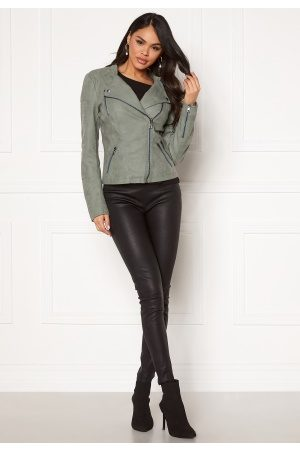 Only Ava Faux Leather Biker Chinois Green 42