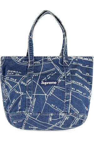 Supreme Gonz Map denim-tote