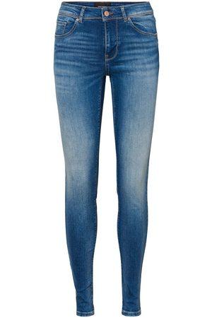 Vero Moda Vmlux Normal Waist Slim Fit Jeans Kvinder Blå