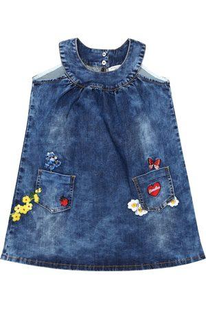 MONNALISA Cotton-blend denim dress