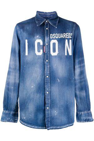 Dsquared2 Denimskjorte med ICON logo