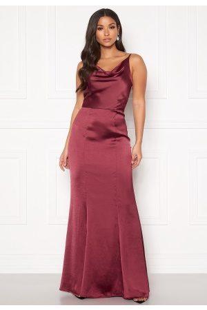 Chi Chi London Alexandria Satin Dress Burgundy S (UK10)