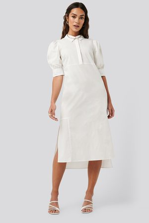 NA-KD Puff Sleeve Panel Dress