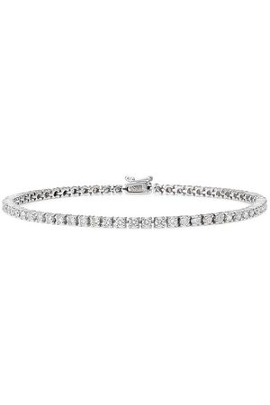 777 Mænd Armbånd - Tennis armbånd i 18 karat hvidguld med diamant