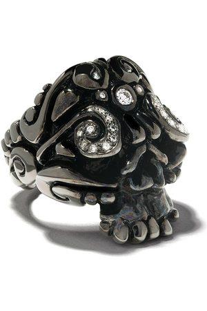 Duffy Ring med rhodium dødningehoved