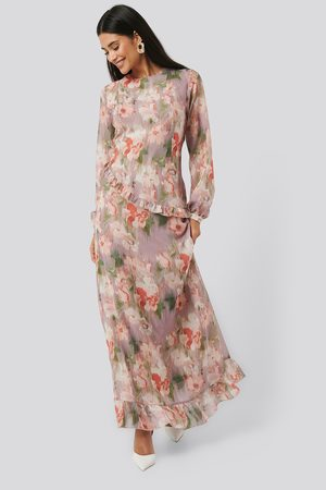 NA-KD Kvinder Mønstrede kjoler - Flower Printed Midi Dress