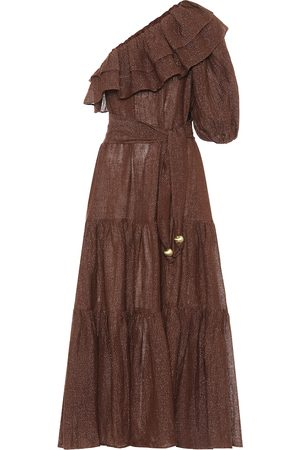 Lisa Marie Fernandez Arden metallic linen-blend dress