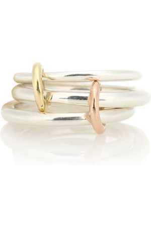 Spinelli Kilcollin Daphne 18kt gold and sterling linked rings