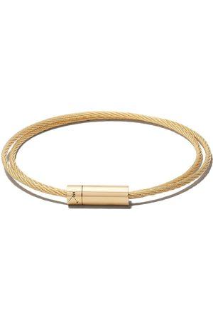 Le Gramme Le 15 grammes dobbelt kabel armbånd i 18 karat polstret gul