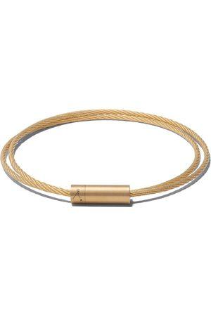 Le Gramme Le 15 grammes dobbelt kabel armbånd i 18 karat børstet gul