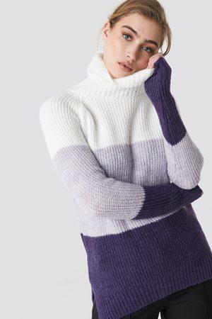 Trendyol Kvinder Strik - Color Blocked High Neck Sweater