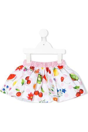 MONNALISA Bred nederdel med frugttryk
