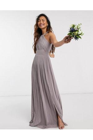 TFNC Plisseret eksklusiv brudepige-maxikjole fra