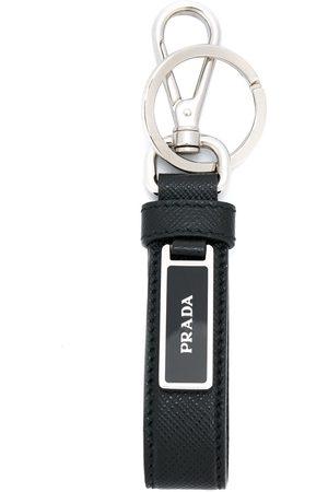 Prada Saffiano logo key chain