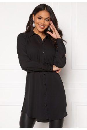 Vila Kvinder Casual - Lucy Button L/S Tunic Black 34