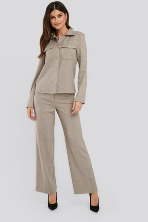 NA-KD Wide Leg Suit Pants