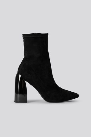 NA-KD Tight Shaft Block Heel Booties