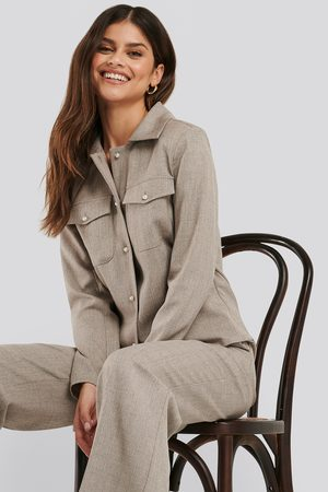 NA-KD Pearl Buttoned Overshirt