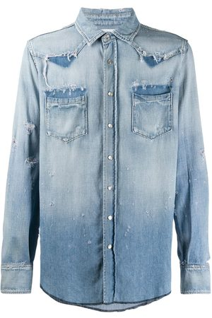 Saint Laurent Klassisk Western-skjorte i denim