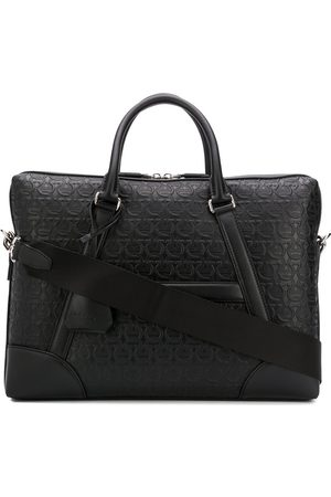 Salvatore Ferragamo Mænd Laptop & Business Tasker - Gancini embossed briefcase