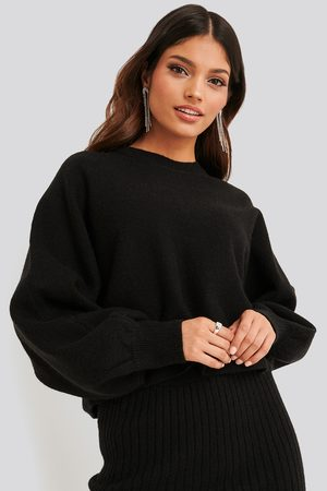 NA-KD Kvinder Strik - Round Neck Cropped Knitted Sweater